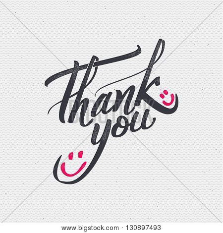 Thank you - insignia is made with the help of lettering and calligraphy skills, use the right typography and composition.