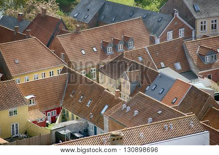 Ribe - view from Carhedral Tower Denmark