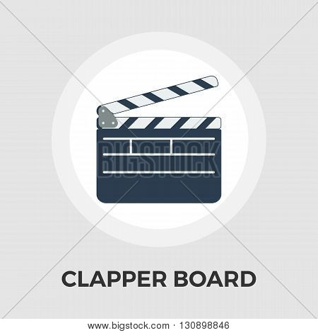 Director clapperboard icon vector. Flat icon isolated on the white background. Editable EPS file. Vector illustration.