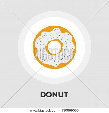 Donut icon vector. Flat icon isolated on the white background. Editable EPS file. Vector illustration.