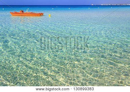 The most beautiful sandy beaches of Apulia:Porto Cesareo marine.ITALY (Lecce).