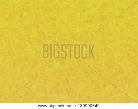 Vector EPS10 gold metal effect with blurred triangles. Pattern include mesh gradient. Yellow background with illusion of three dimensional effect. Background for Christmas or party themes