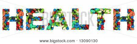 Medical Font Health Pills Word