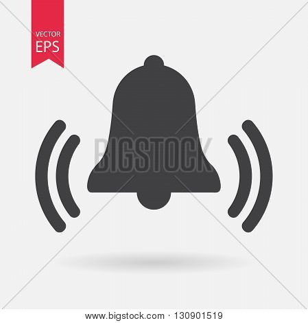 Bell Icon Vector. Flat design. Bell sign isolated on white background