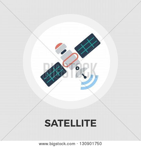 Satellite icon vector. Flat icon isolated on the white background. Editable EPS file. Vector illustration.