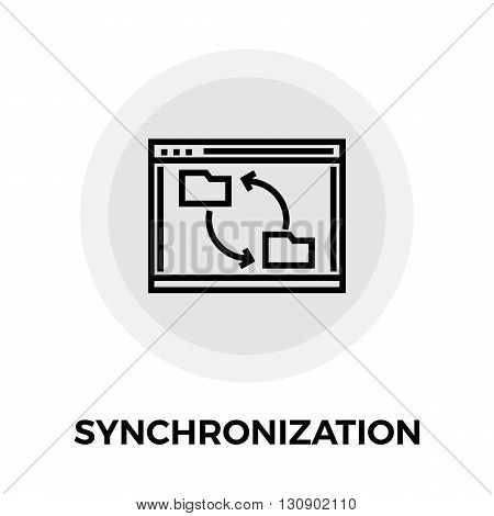 Synchronization icon vector. Flat icon isolated on the white background. Editable EPS file. Vector illustration.