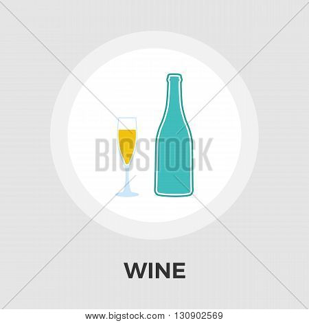 Wine icon vector. Flat icon isolated on the white background. Editable EPS file. Vector illustration.