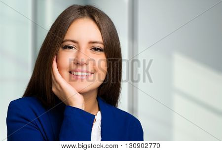 Beautiful smiling woman portrait