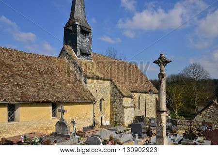 Lattainville France - march 14 2016 : the picturesque village in winter