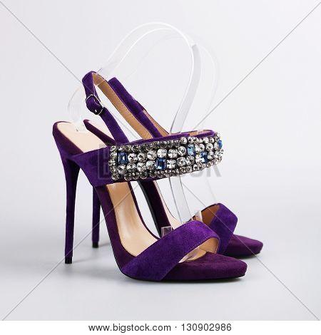Beautiful Female Sexy Purple Shoes