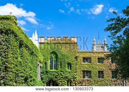London, view of the Westminster abbey cloister