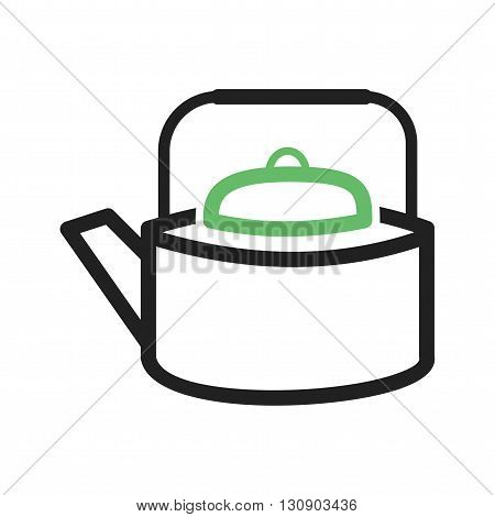 Kitchen, tea, kettle icon vector image. Can also be used for kitchen. Suitable for use on web apps, mobile apps and print media.