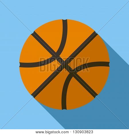 Vector illustration. Icon of toy basketball ball in flat design with shadow effect