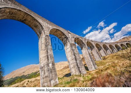 Glenfinnan Railway Viaduct in Scotland, from Harry Potter story
