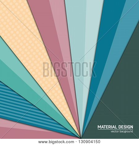 Vector material design background. Abstract creative concept layout template. For web and mobile app, paper art illustration design. style blank, poster, booklet. Motion wallpaper element. Flat ui.