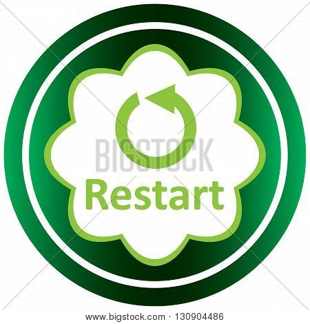 Green icon with a restart arrow symbol
