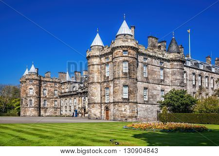 Palace Of Holyroodhouse Is Residence Of The Queen In Edinburgh, Scotland