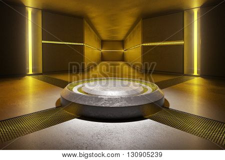 Abstract Interior Yellow Lights