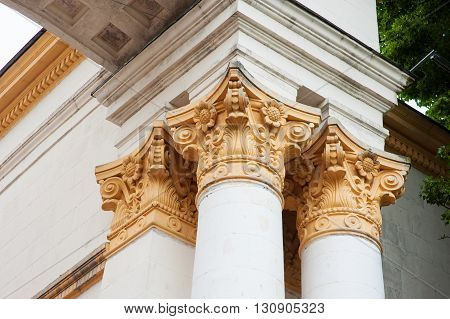 column element in the historic architectural building.