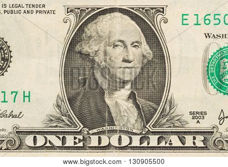 Us One Dollar Bill, Close Up