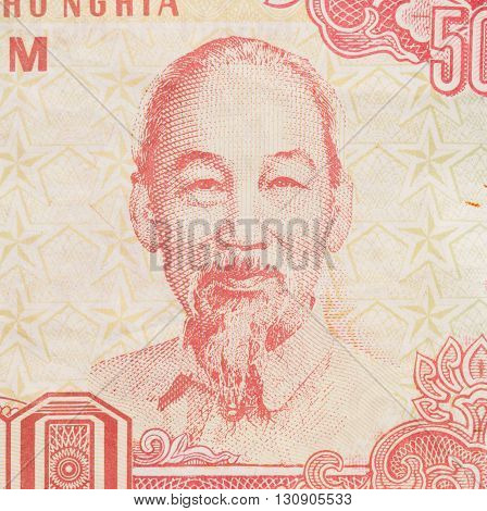 Old Vietnamese Dong Vietnamese currency close up