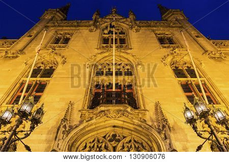 Provincial Palace in Bruges in Belgium in Europe