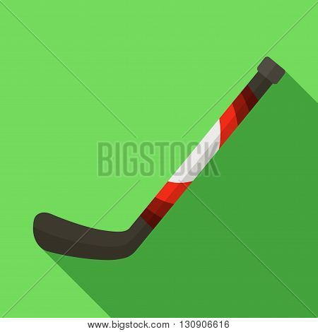 Vector illustration. Icon of toy hockey stick in flat design with shadow effect