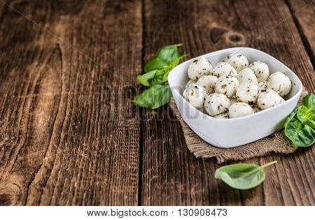Mozzarella Cheese (marinated With Herbs)