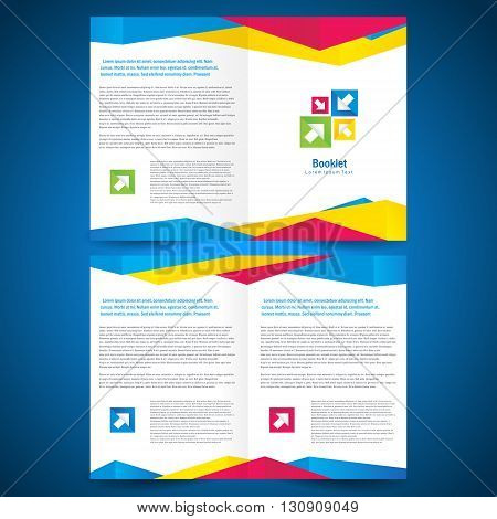 booklet catalog brochure folder polygonal geometric low-poly colored