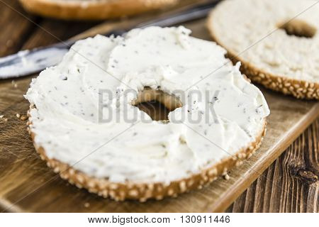 Fresh Made Cream Cheese Bagel