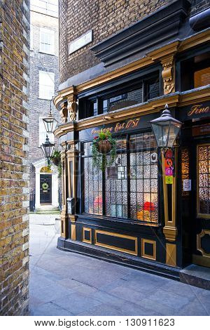 London England - January 27 2012: The Shakespeare's house in Ireland yard today a Pub