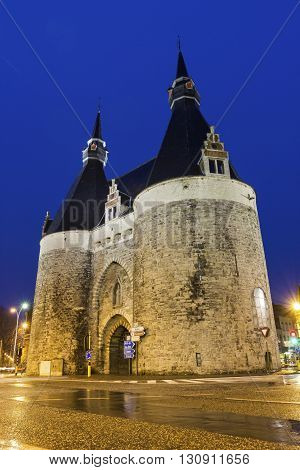 Brusselpoort - the sole remaining city gate of the original twelve gates of the city of Mechelen Belgium