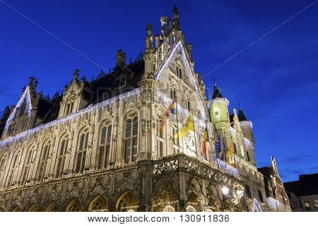 Town Hall on the Grote Markt in Mechelen in Belgium