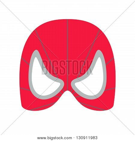 Super hero red mack. Supperhero mask for face character in flat style. Masks of heroic, savior or superhero. Comic super hero mask vector illustration. Super hero photo props. Super hero face. Spider