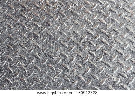 gray of Aluminium dark list with rhombus shapes