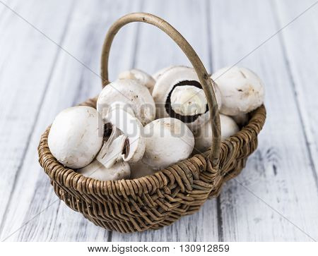Portion Of Fresh White Mushrooms