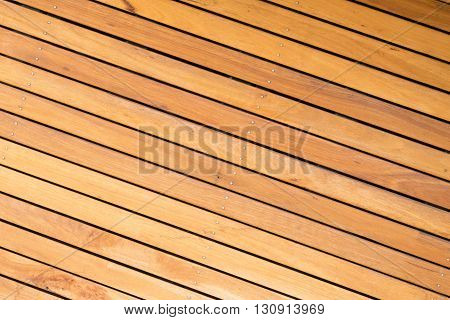 Close-up view of outdoor wooden decking boards