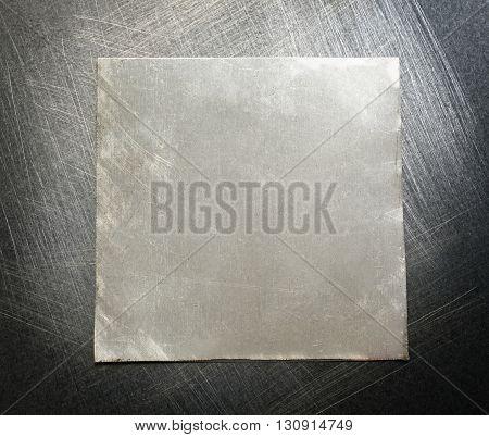 Blank Square Metal Plate