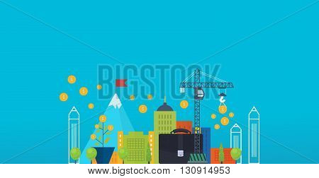 Property investment. Investment business. Construction and Investment. Financial strategy concept. Business development, strategic management, finance, banking, market data analytics concept