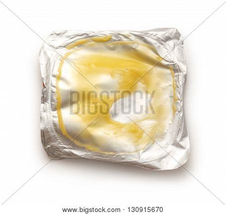 Used Part Of Yogurt Package