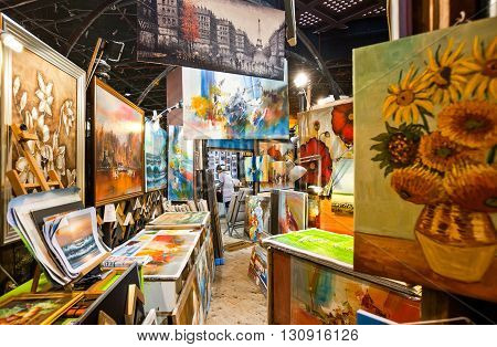 London England - January 31 2012: An art store in Camden town