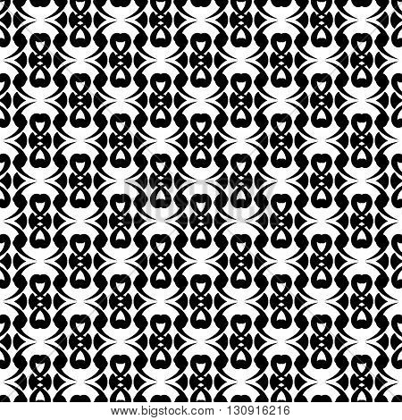 Seamless black and white pattern abstract geometric design.