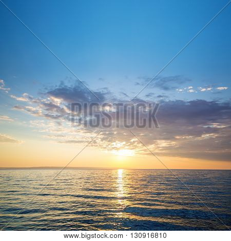 Early  summer morning bright sky photo Beach