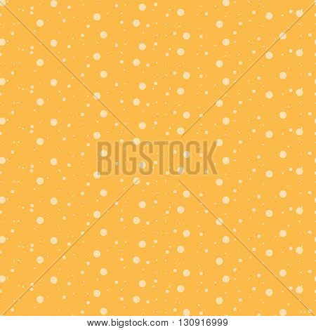 Seamless background with small circles on an orange background.