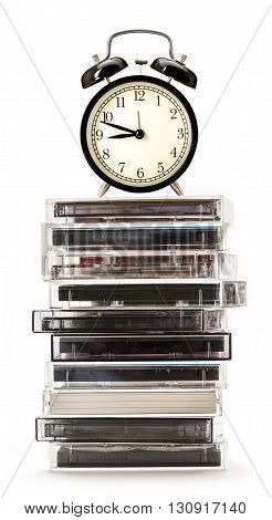 Old Cassettes And Alarm Clock
