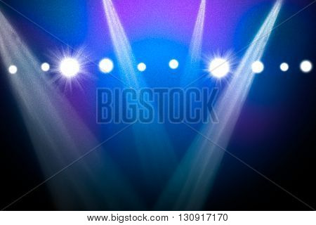 Abstract blue background with spotlights. Template for design