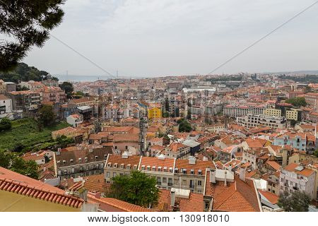 Details And View Of European City Lisboa