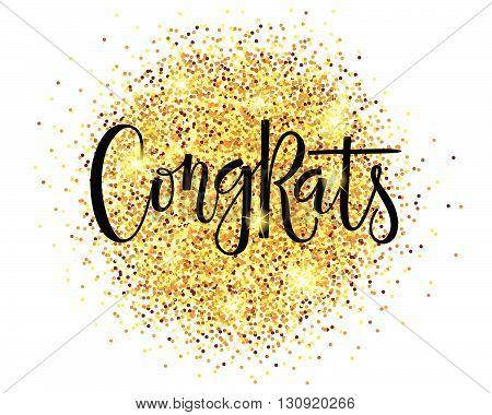 Congrats Postcard, Card, Invitation, Banner Template