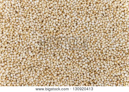 Portion of puffed Quinoa as detailed close-up shot (selective focus)
