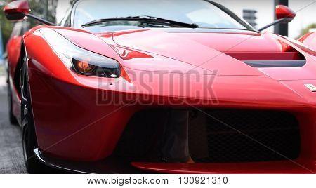 LONDON, UK - JUNE 15, 2015: Ferrari La Ferrari project name, F150 seen in the street
